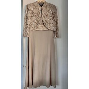 R&M Sequin Lace Chiffon Dress Mother of the Bride